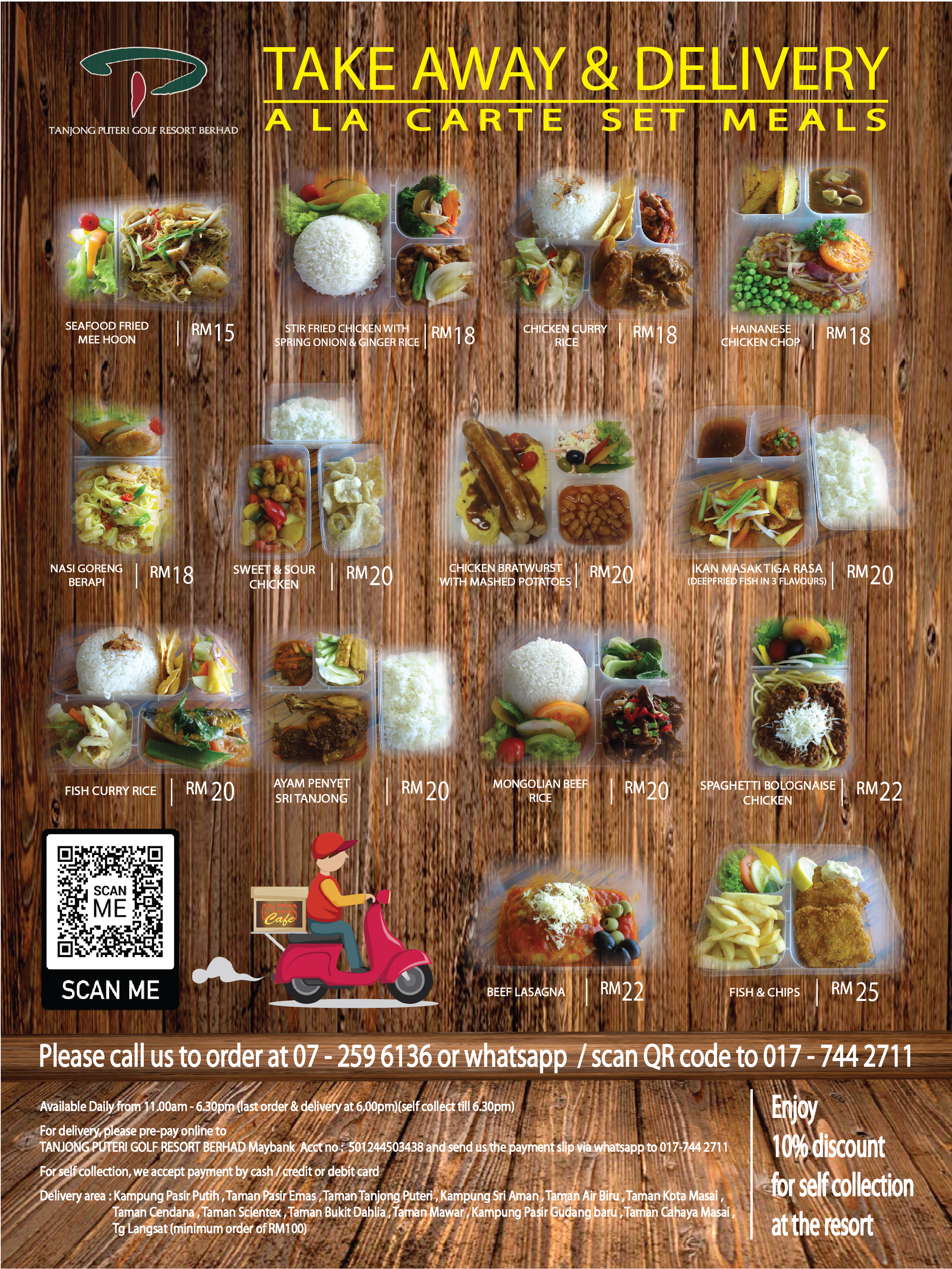 ALA CARTE -  TAKE AWAY & DELIVERY AVAILABLE